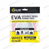 Скотч двухсторонний Solar белый  6ммx2м (DS2062)