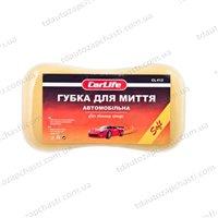Мочалка CarLife Soft с мелкими порами  220x120x60mm,жовта (CL-412)