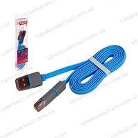 Кабель PULSO USB - Micro USB/Apple 1m (плоский)