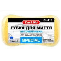 Мочалка CarLife SPECIAL с большими порами 220x120x60mm, жолтая